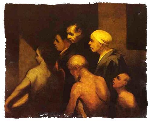 Honoré Daumier: The Beggars (c. 1845, Oil on canvas, 59.7x74 cm)