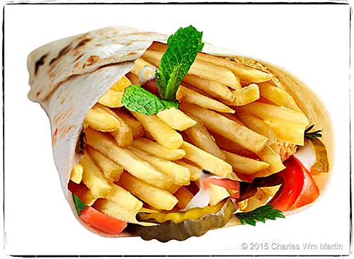 freedom fries on falafel