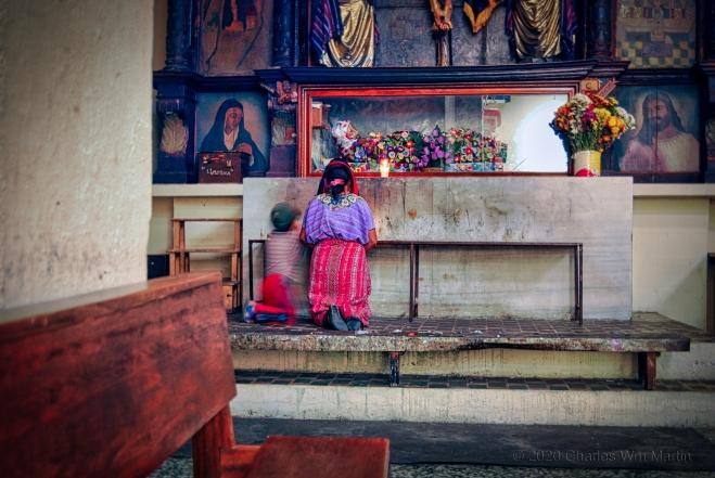 prayer or staged devotion...