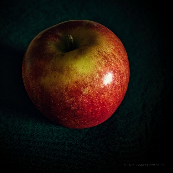 the core of the apple